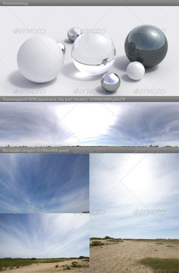 HDRI spherical panorama -1125- sunny sky / clouds - 3DOcean Item for Sale
