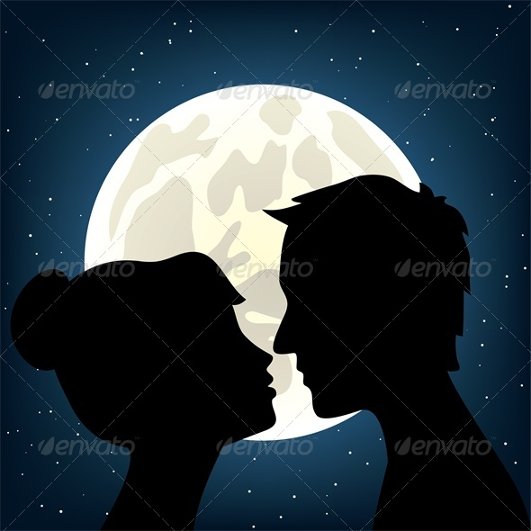 GraphicRiver Man and woman kissing 3512681