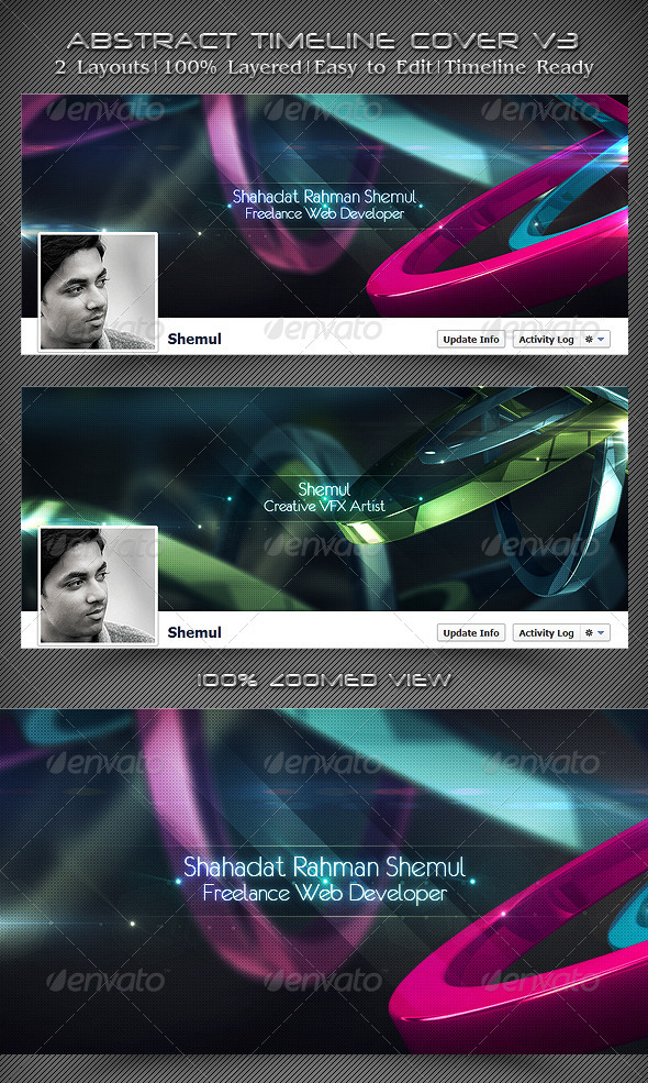 Abstract Timeline Cover V3 - Facebook Timeline Covers Social Media