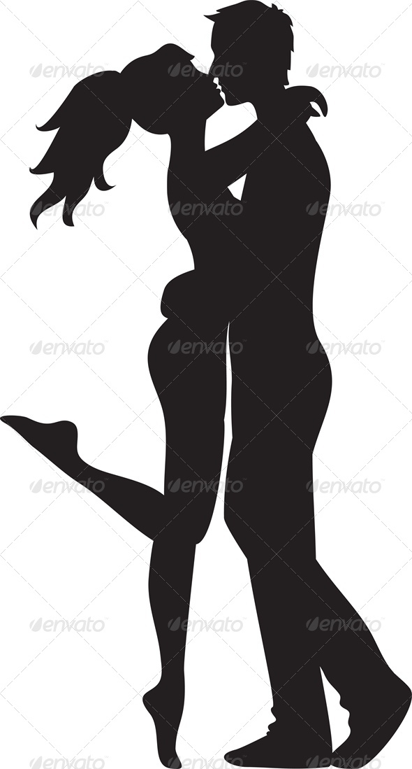 GraphicRiver Woman and Man Kissing 3513664