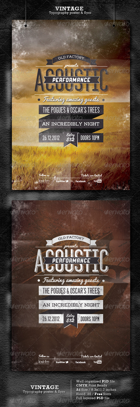 GraphicRiver Vintage Typography Poster Flyer 3514107