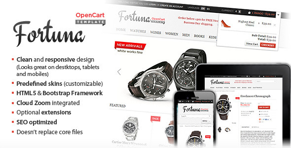 ThemeForest Fortuna Elegant and responsive OpenCart theme 2564239