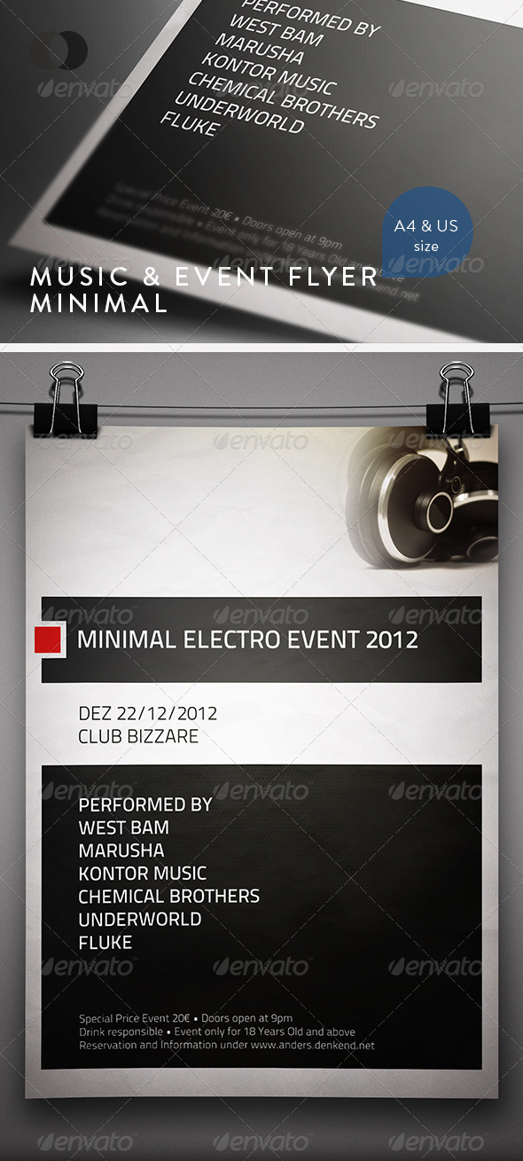Music & Event Flyer - Minimal - Clubs & Parties Events