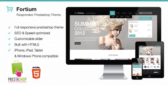 Fortium - Responsive Prestashop Theme - PrestaShop eCommerce