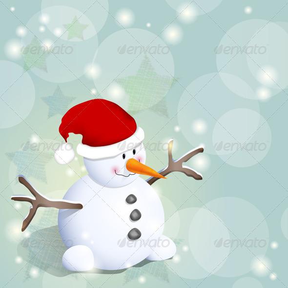 GraphicRiver Snowman 3489011