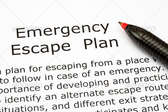 Emergency Escape Plan - Stock Photo - Images