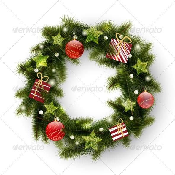 GraphicRiver Christmas Wreath 3488799
