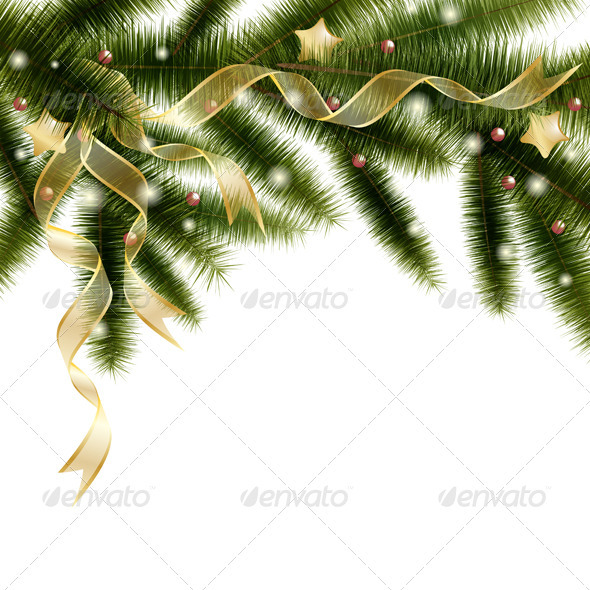 GraphicRiver Christmas Tree Branch 3488964