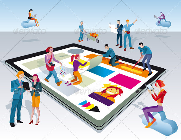 GraphicRiver People Creating Digital Tablet Content 3489019