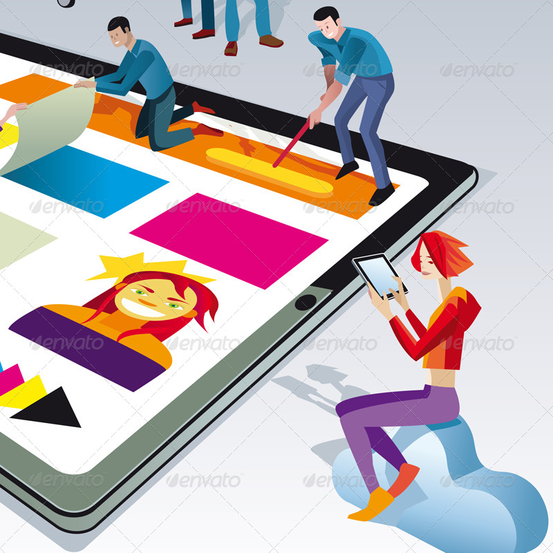 Https Graphicriver Net Item People Creating Digital Tablet Content 3489019