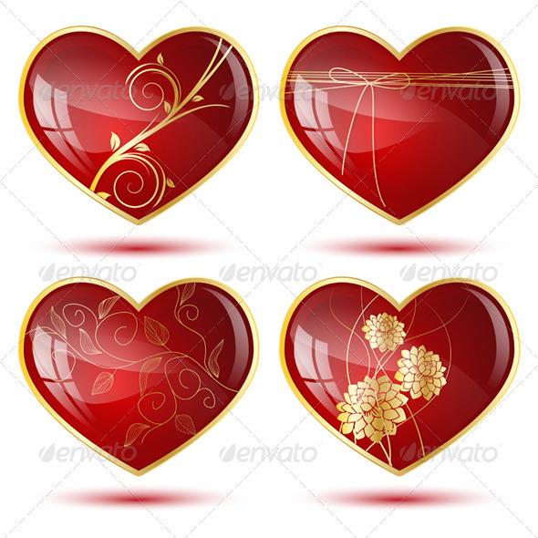 GraphicRiver Four Hearts 3515451