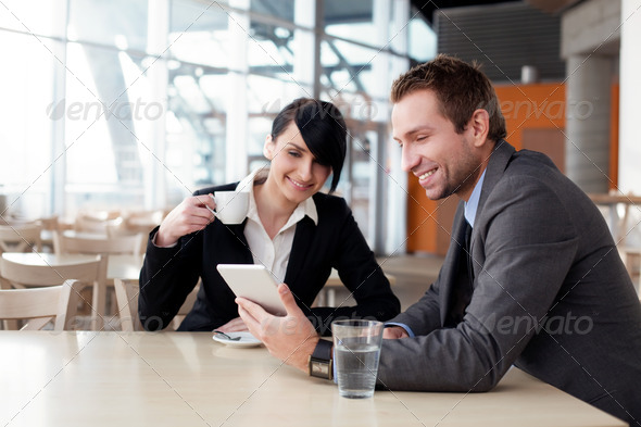 Business people with digital tablet - Stock Photo - Images