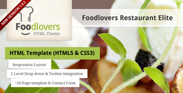 ThemeForest Foodlovers Restaurant Elite 2317659