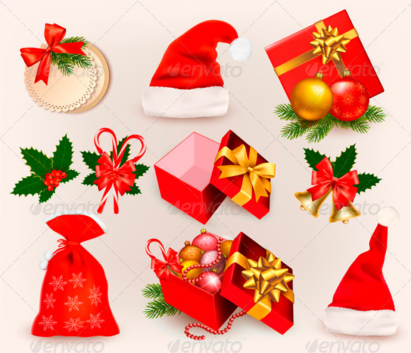 GraphicRiver Big Set of Christmas Icons and Objects 3516437