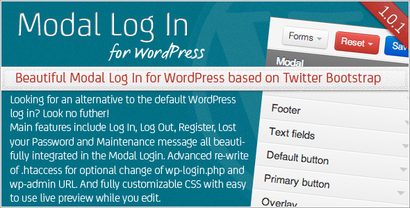 CodeCanyon Modal Log In for WordPress 3509483