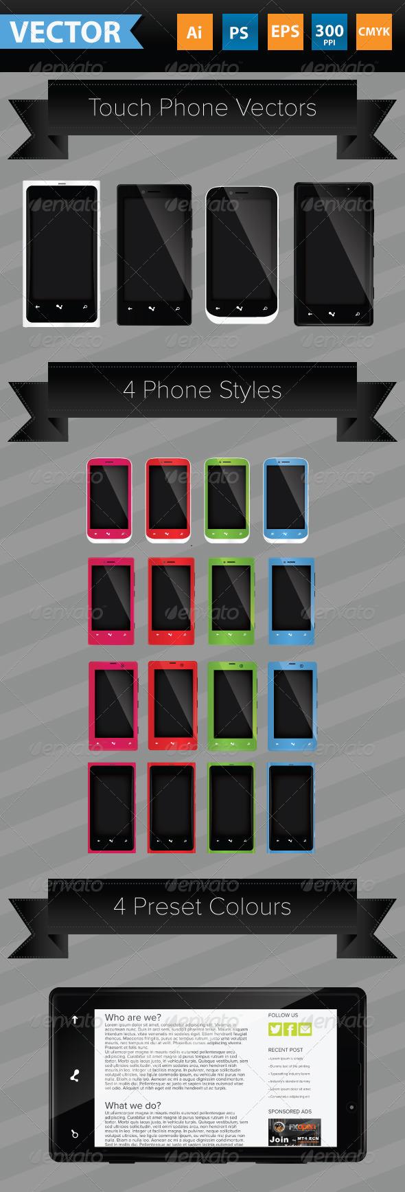 GraphicRiver Smart Phone Vectors 3488849