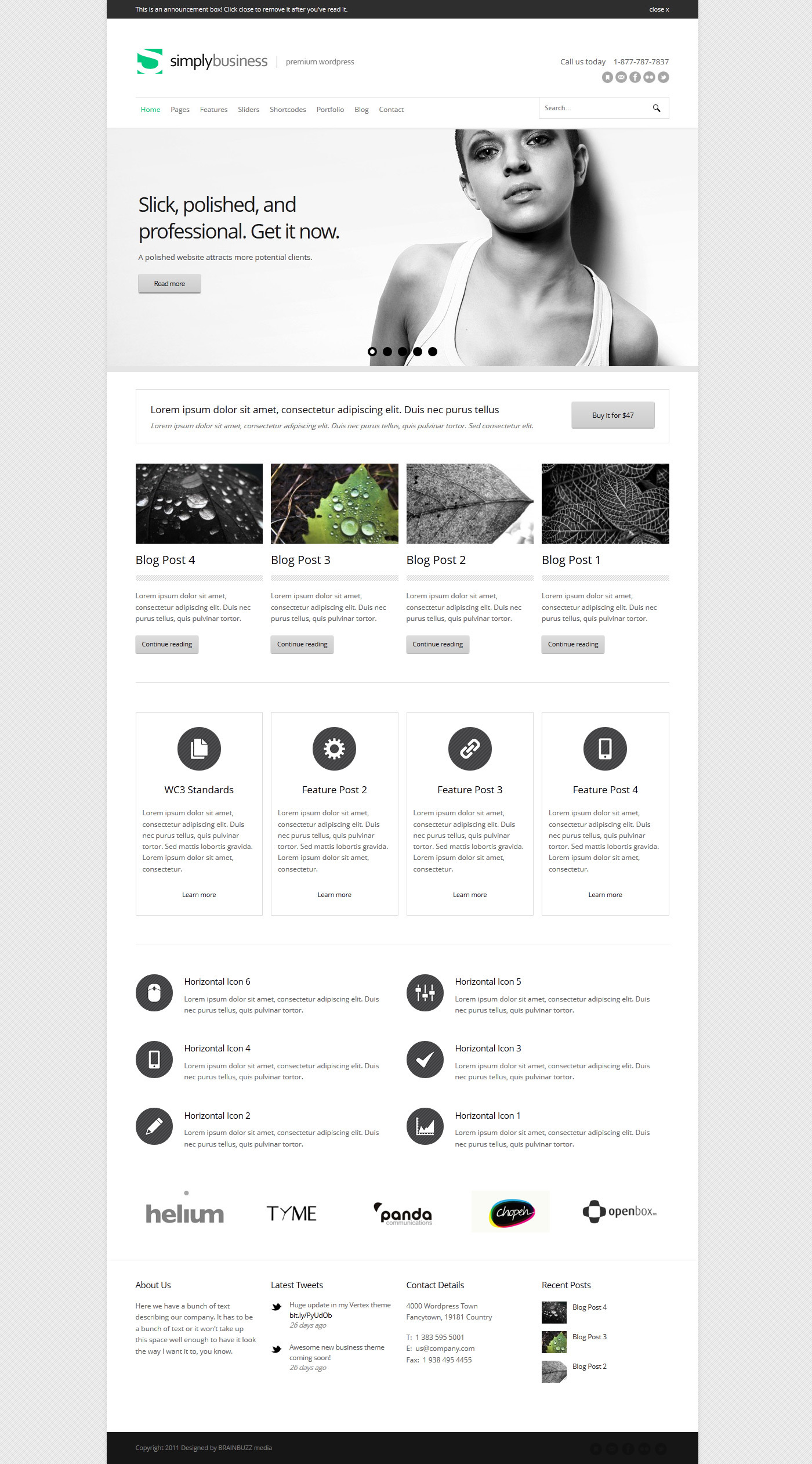 Simply Business - Responsive Multi-Purpose Theme