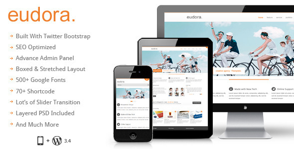 ThemeForest Eudora Responsive Multi Purpose Corporate Theme 3420050