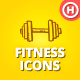 100 Hand-drawn Fitness and Health Icons - GraphicRiver Item for Sale