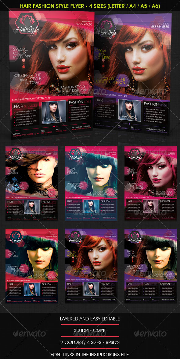 Sample Flyers For Salon Stock Photos Graphics