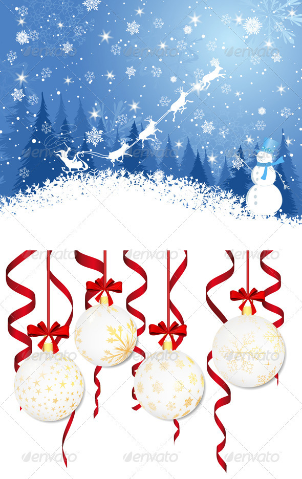 GraphicRiver Christmas Card Set 3494812