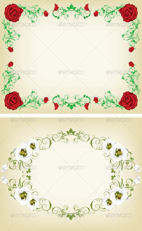 GraphicRiver Vintage Floral Frame Set 3494815