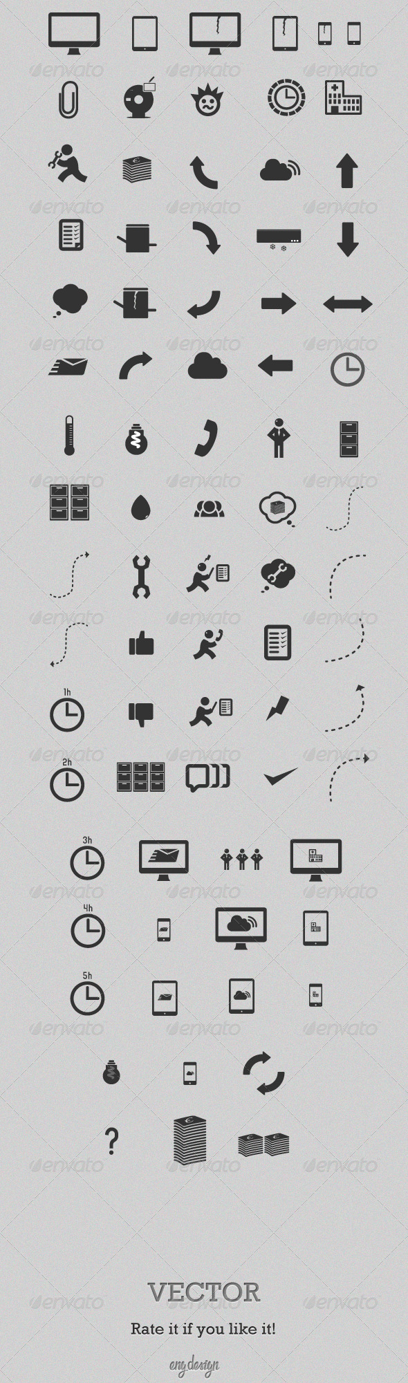 GraphicRiver Various Icons Set 3498752