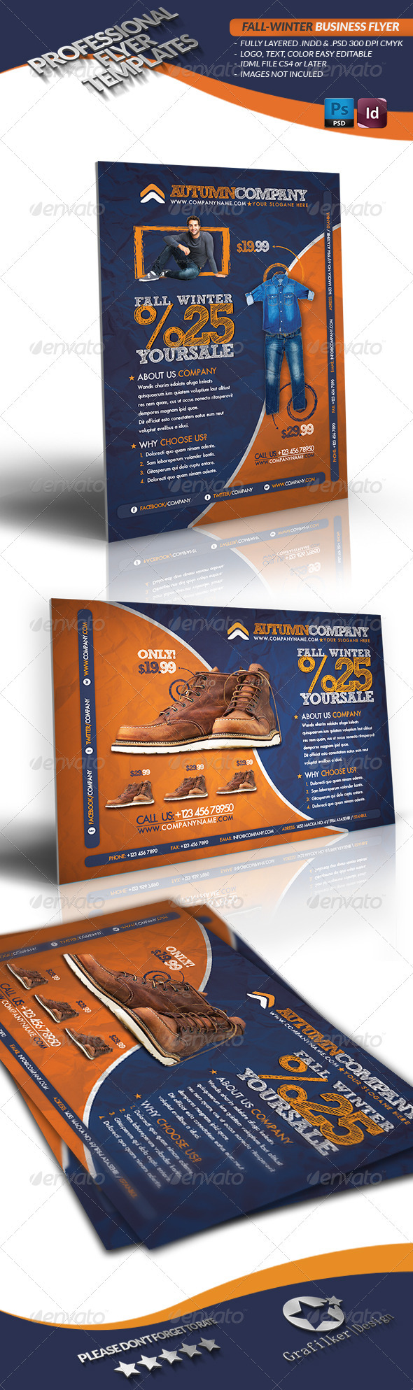 GraphicRiver Fall Winter Business Flyer 3361641