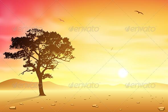 GraphicRiver Desert Landscape 3517061