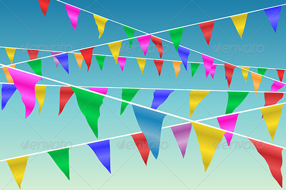 GraphicRiver Bunting Flags 3517165
