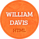 William Davis vCard - Responsive HTML5 Template - ThemeForest Item for Sale