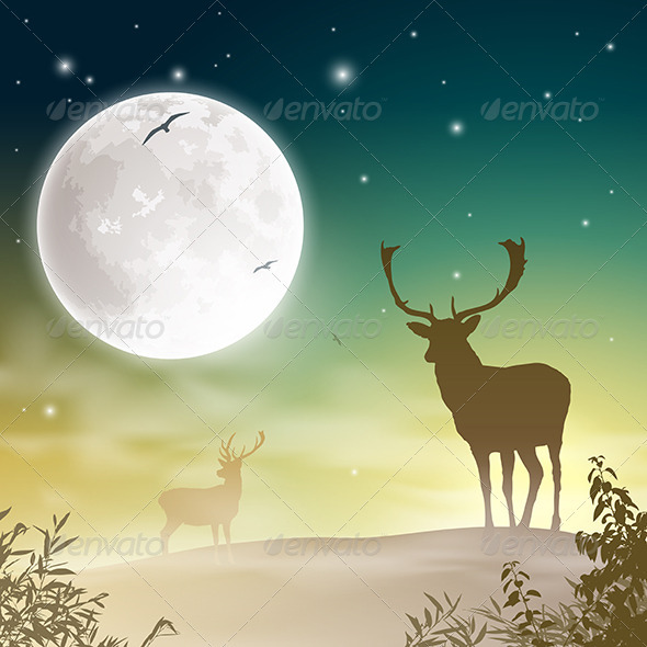 GraphicRiver Male Stag Deer 3517209