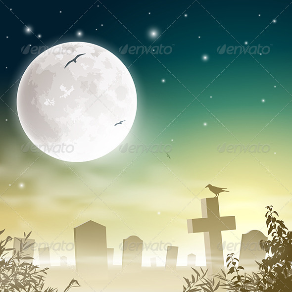 GraphicRiver Misty Cemetery 3517227