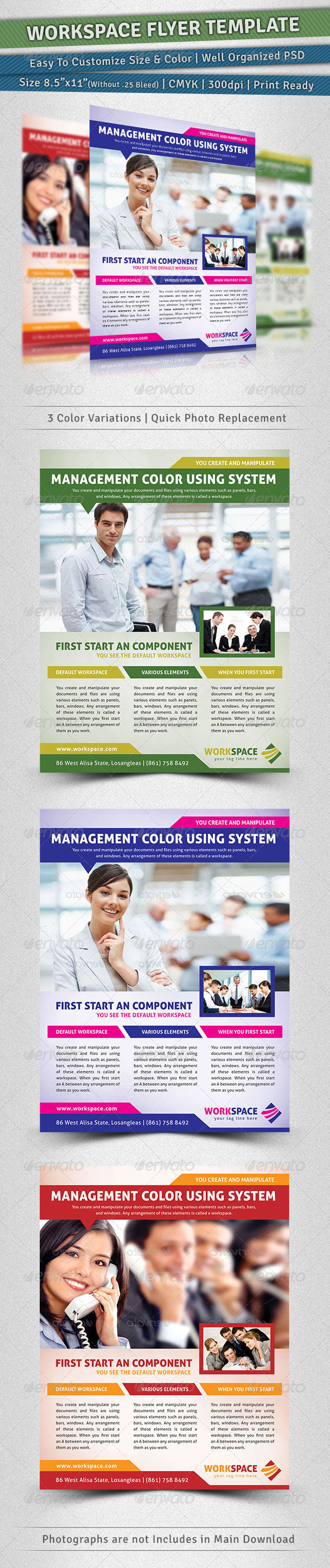 GraphicRiver Workspace Flyer Template 3517311