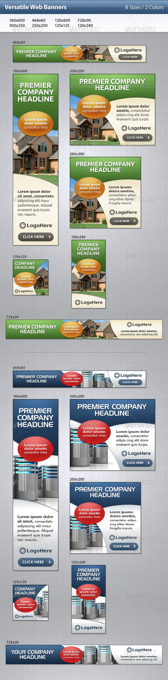 GraphicRiver Versatile Web Banners 3517357