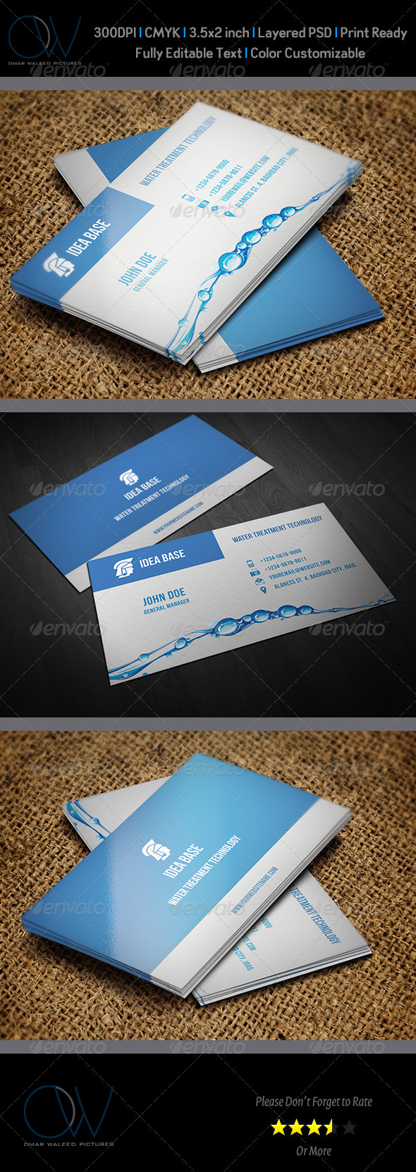 GraphicRiver Water Technology Business Card 3517608