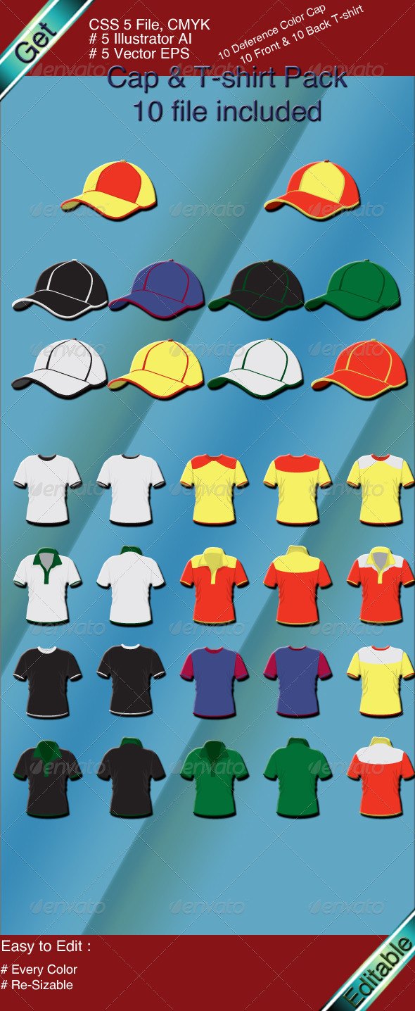 GraphicRiver T-Shirt & Cap Set 3518450