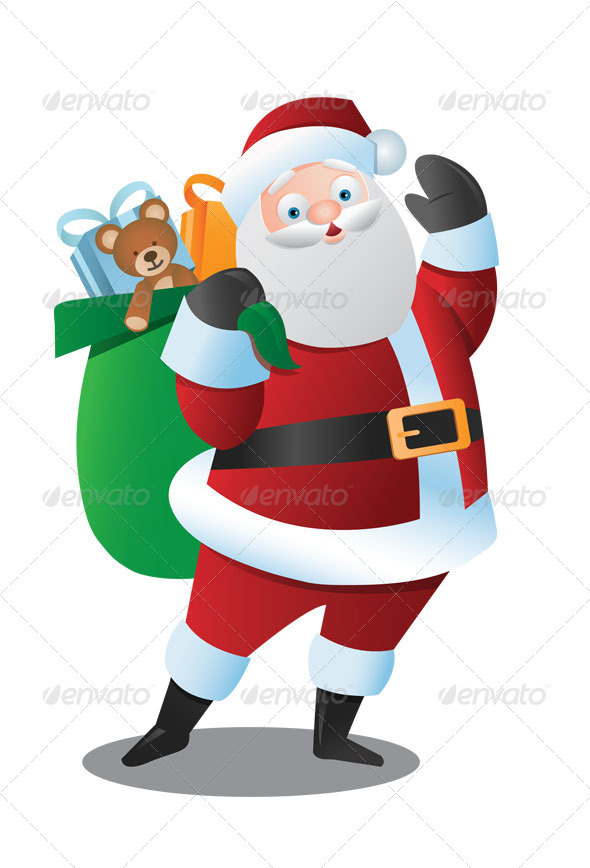 Santa Claus Greeting - Christmas Seasons/Holidays