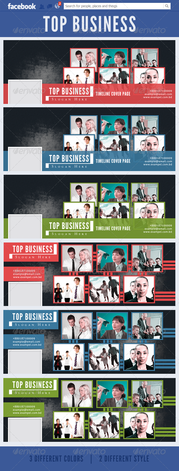 GraphicRiver Top Business FB 3484405