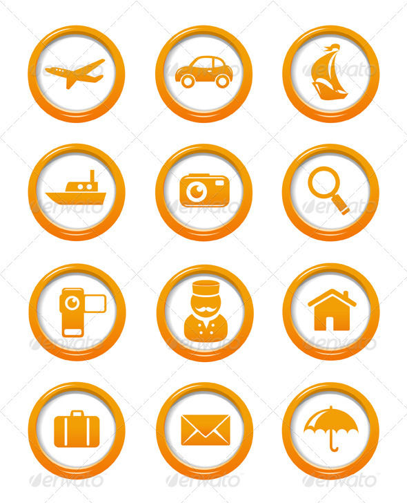 GraphicRiver Travel And Transportation Web Buttons Set 3518912