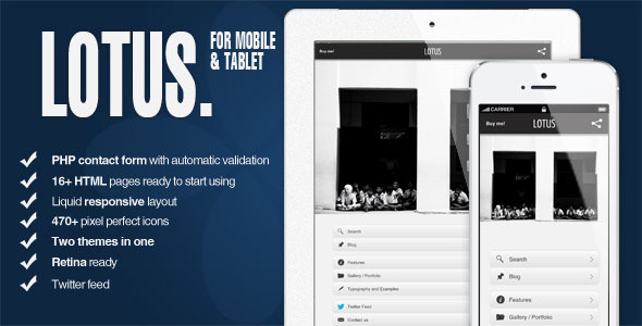 Lotus - Mobile and Tablet | HTML5 and CSS3