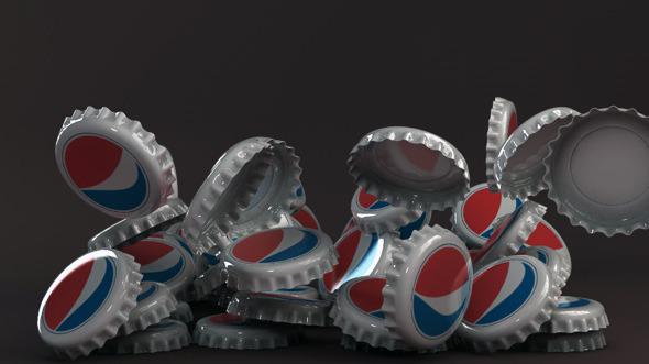Bottle tin cap pepsi - 3DOcean Item for Sale