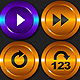 Media Player Icons Set V7 - ActiveDen Item for Sale