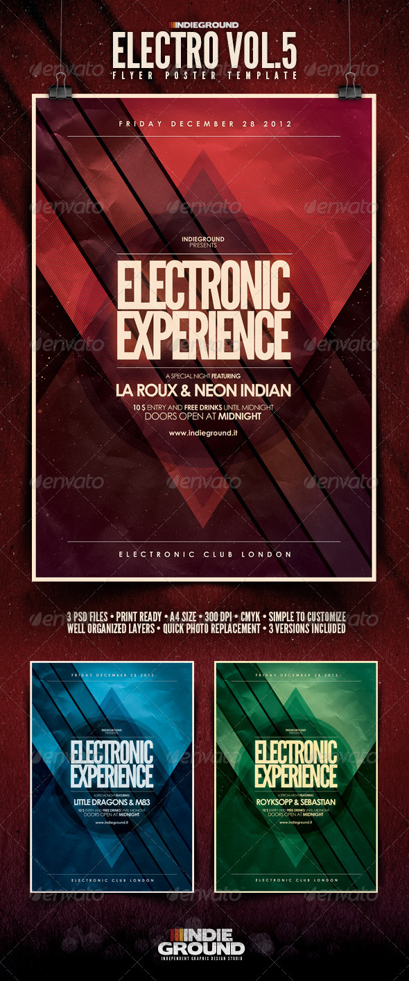 GraphicRiver Electro Flyer Poster Vol 5 3519357