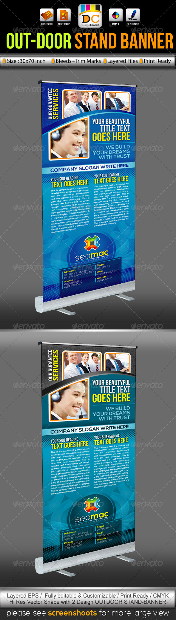 GraphicRiver SeoMac Out-Door Stand Banner Sinage Templates 3477476