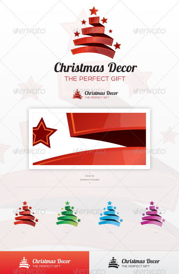 Christmas Decor Logo - Symbols Logo Templates