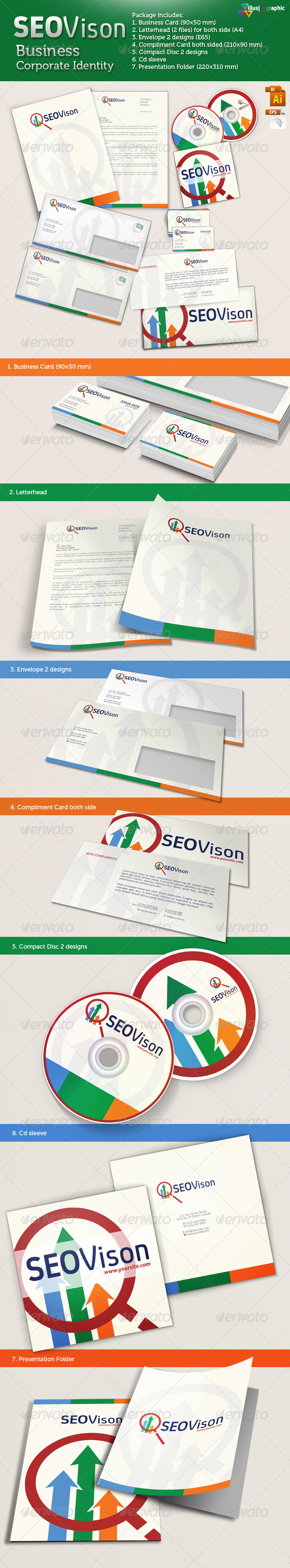 GraphicRiver SEOVison Business Corporate Identity 3519656