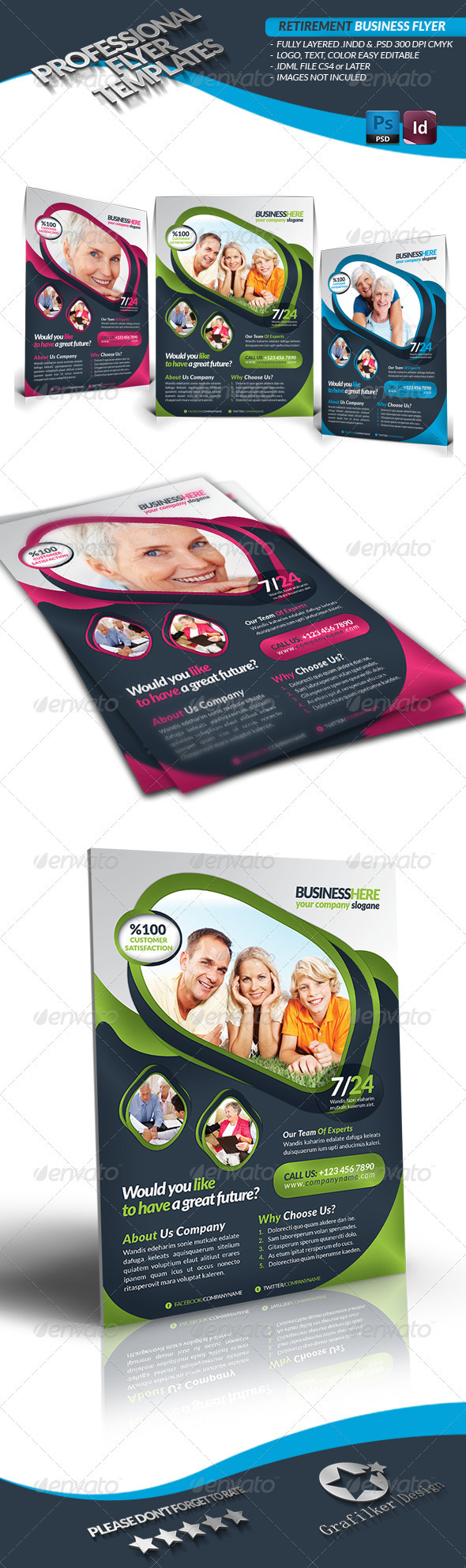 GraphicRiver Retirement Business Flyer 3519681