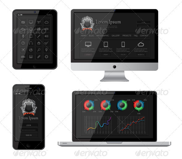 GraphicRiver Isolated Gadgets 3519701