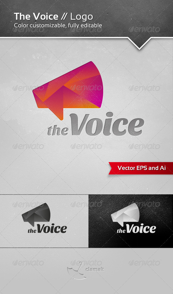 GraphicRiver The Voice Logo 3519800